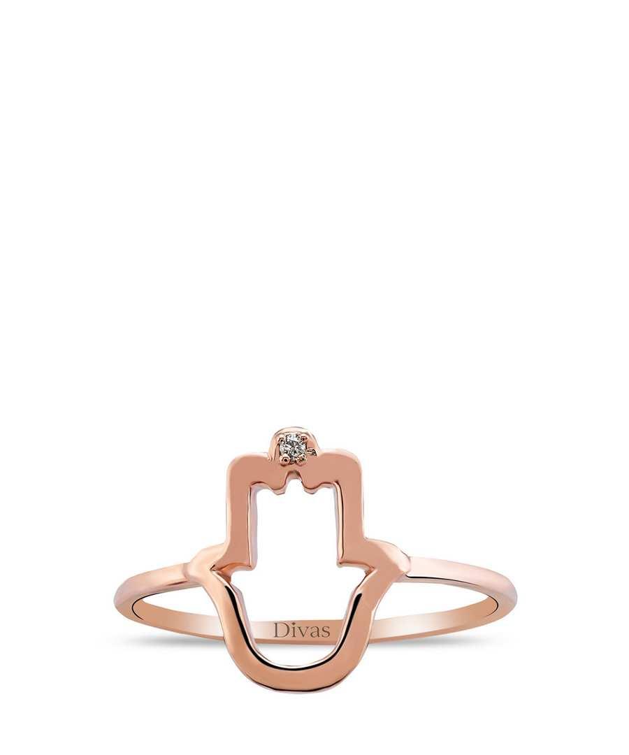 Divas diamond 8ct rose gold hand of fatima ring, designer jewellery sale, divas diamond, secretsales