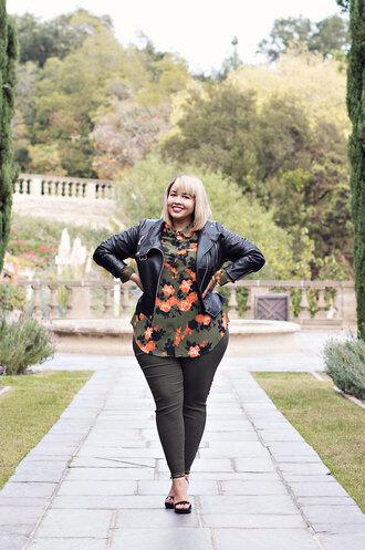leggings plus size leggings black leggings curvy plus size sandals sandal heels high heel sandals black sandals top shirt printed shirt jacket black jacket black leather jacket leather jacket