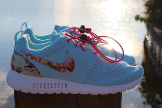 shoes nikes nike shoes clothes floral flowers celebrities nike free runs free runs nike roshe roshe runs free run shoes nike running shoes running shoes workout shoes roshes team roshe light blue blue pink hot pink