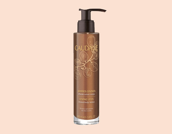 make-up body lotion body care caudalie shimmering lotion tan tanned girl fake tan