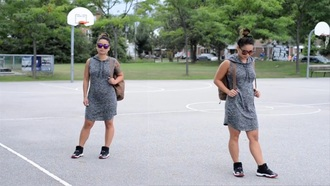 dress gray hoodie cotton drawstring short sleeve