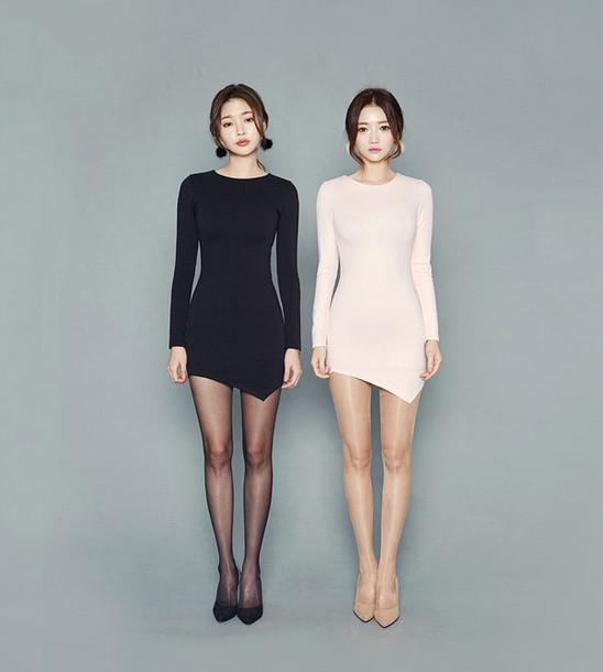 dress bodycon dress mini dress long sleeve dress