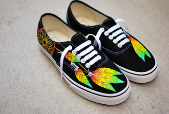 shoes black vans vans sneakers dreamcatcher rasta