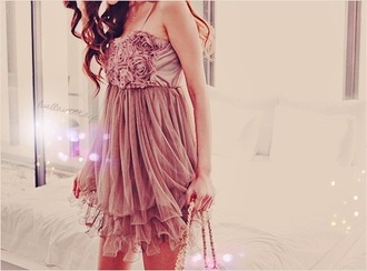 dress pink dress floral flowers frilly girly pink pretty cute dress
