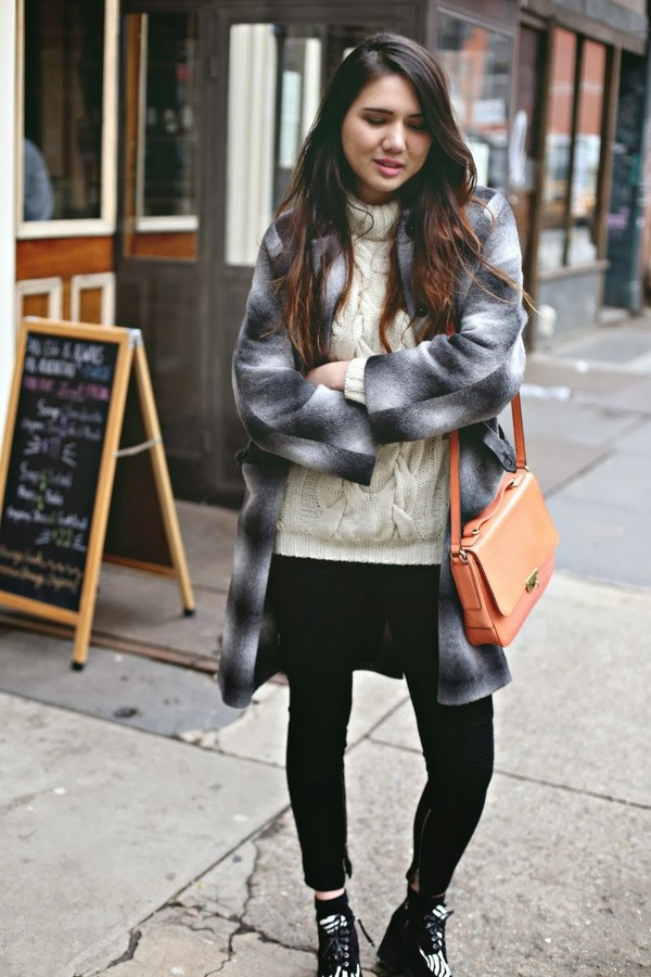 color me nana sweater coat bag