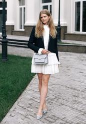 white rabbit dreams,blogger,jacket,dress,bag