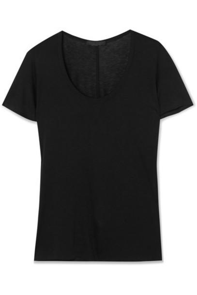 The Row t-shirt shirt t-shirt black top