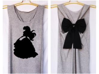 tank top disney clothes disney princess grey fashion style