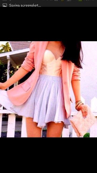 jacket blazer skirt tank top