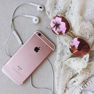 sunglasses headphones iphone phone pink purple holographic summer girl fashion gold mirrored sunglasses mirrored shades lace