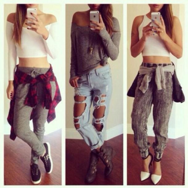 t-shirt pants blouse jeans shoes sweater top jewels dress