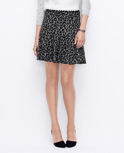 Leopard flounce skirt