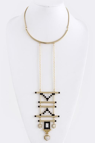 Tribal Deco Pendant Necklace                           | Fancy Friday