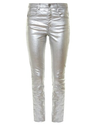 jeans skinny jeans metallic high silver