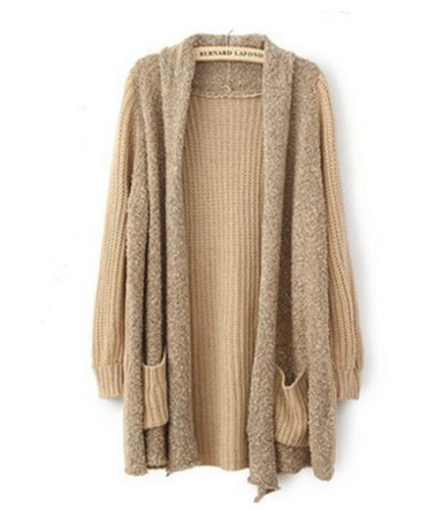 Loose women sweater knit cardigan coat