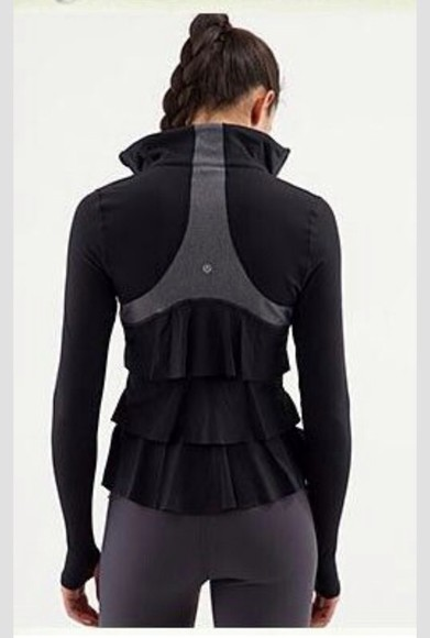 jacket ruffles lululemon lululemon athletica black