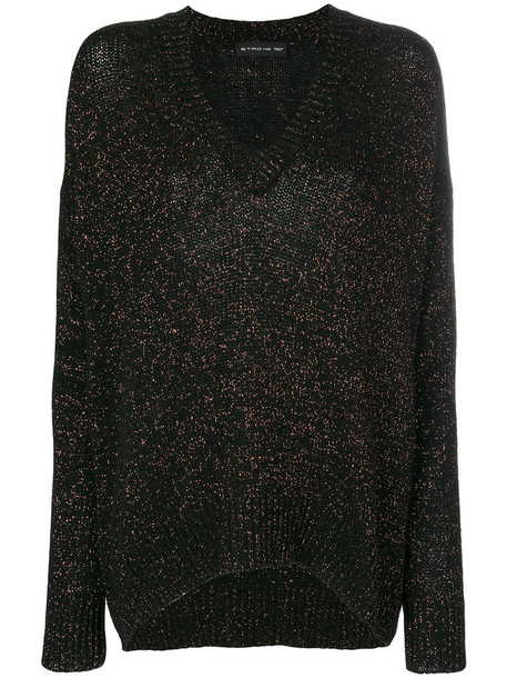 Etro - V-neck Temba jumper - women - Polyamide/Viscose/Wool/Metallic Fibre - 46, Black, Polyamide/Viscose/Wool/Metallic Fibre