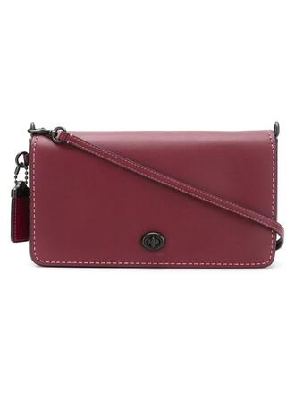 women bag crossbody bag leather red