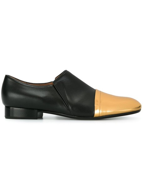 MARNI women loafers leather black shoes