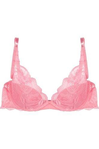 underwear bra tits breast lingerie pink pale baby pink