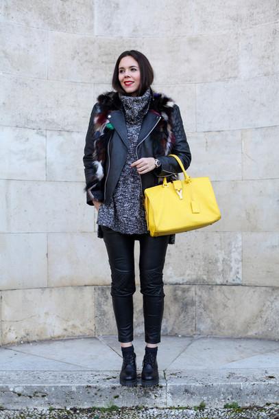 irene closet blogger jewels bag sweater jacket pants shoes