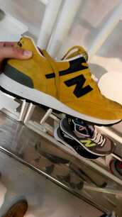 new balance,mustard,autumn/winter,fashion,sports shoes,shoes