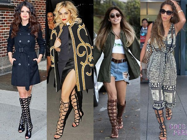 Knee High Gladiator Sandals Are Celeb Summer Trend - YouTube