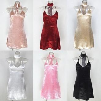 dress silk silk dress silk scarf pink pink dress burgundy burgundy dress gold gold dress choker necklace gold choker silver nude nude dress black dress black satin satin dress
