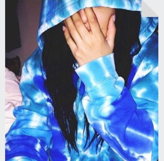 sweater blue tie dye