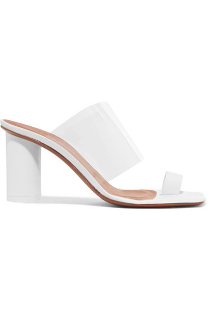 Neous - Chost Leather And Pvc Sandals - White
