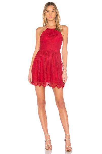 bobi dress lace dress lace black red