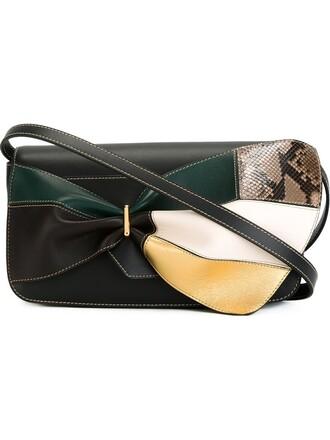 bow bag shoulder bag black
