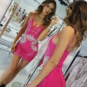 dress,bandage dress,pink dress,bandage pink dress,crystals dress,bandage dress with crystals,mini pink dress,barby dress,sexy dress,party dress,bachelorette dress,birthday dress,holt