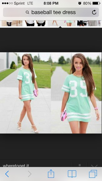 mint dress mint green jersey