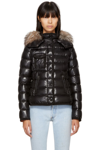 Moncler - Black Down Fur Armoise Jacket