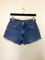 Vintage 90s levi 550 high waist blue denim jeans cheeky cutoffs frayed shorts 30 x 30
