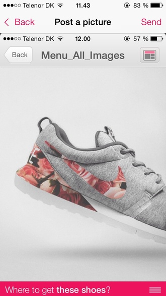 shoes nike running shoes flowers nike sneakers material