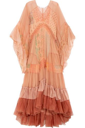 dress maxi dress maxi silk blush