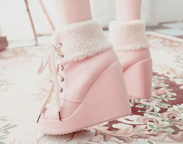 shoes pink pink boots boots platform shoes