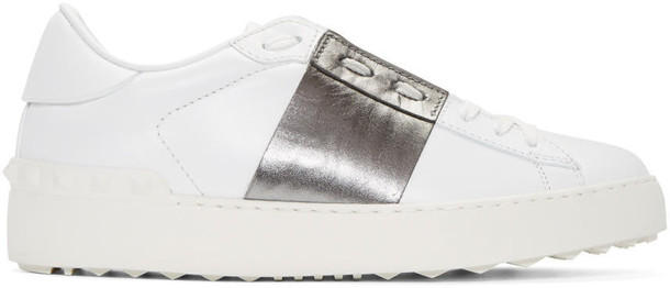 Valentino open sneakers silver white shoes