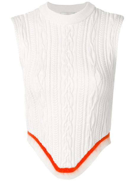 Esteban Cortazar top knitted top back open open back women nude