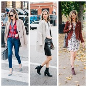 see jane,blogger,top,shirt,coat,jeans,shoes,sunglasses,bag,skirt,sweater,dress,jacket