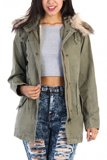 LoveMelrose.com From Harry & Molly | Army M45 Jacket - Olive