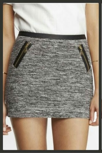 colour style mini skirt grey skirt
