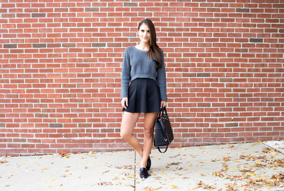 lana jayne blogger bag jewels grey sweater loafers