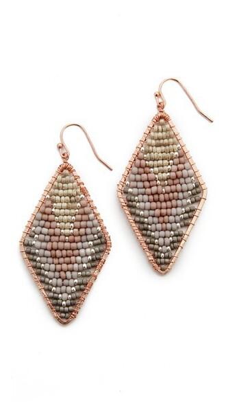 earrings grey jewels