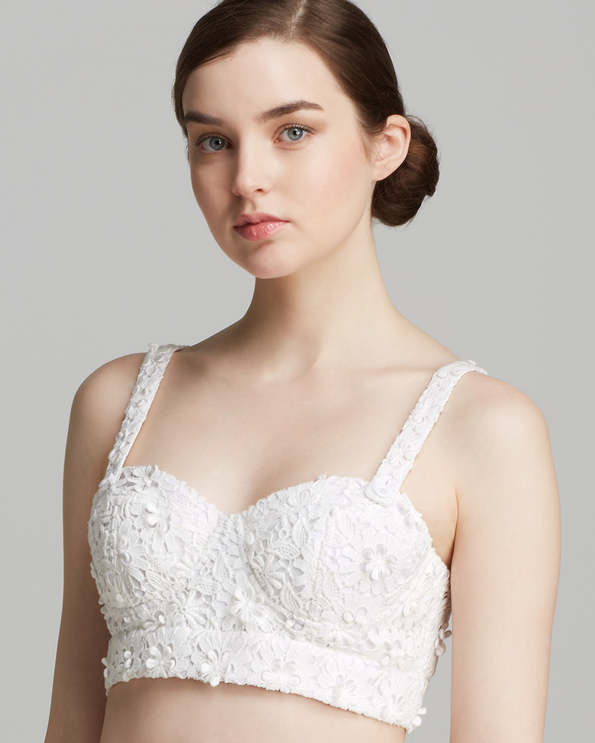 Alice   Olivia Bra Top - Azieb Crochet Lace | Bloomingdale's