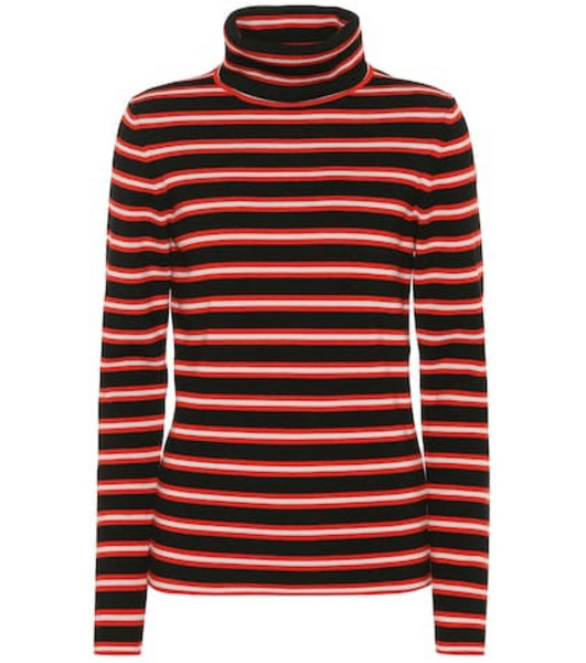 Moncler Grenoble Striped wool-blend sweater in red