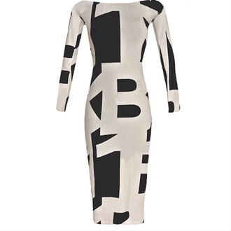 dress bodycon dress geometric