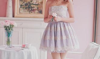 dress lace blue pastel lavender